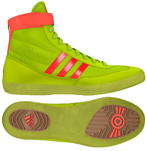 Adidas Combat Speed 4 Kids Wrestling Shoes - Solar Yellow/Solar Red