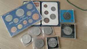 Job / lot collection of commemorative crown coins and coin sets