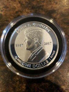 2017 British Virgin Islands Jfk 1 oz Silver Coin