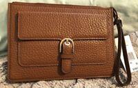 NWT ❤️ $148 MICHAEL Michael Kors Cooper Medium Carryall Wristlet Luggage BROWN