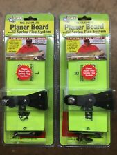 Opti Tackle Planer Board 2 Pack: Medium Left And Right with Spring Flag System
