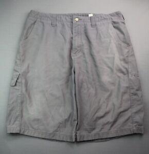 Vintage 1990's Men's Anchor Blue Cargo Shorts Gray Size 34 Zipper Fly