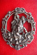 VERY RARE WWI AUSTRIA Prinz von Savoyen STERLING SILVER CARVED Buckle OR BADGE