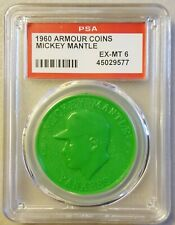 1960 Armour coins Mickey Mantle (Lime Green) - PSA 6