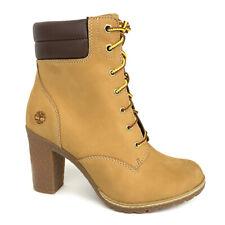 Timberland Women's Tillston 6 Inch Wheat Nubuck Leather Boots A1KJH