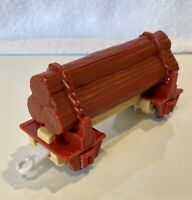 2009 LOGGING CAR WITH LOOSE LOGS  - Thomas & Friends Trackmaster Train - EUC !