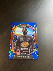 2021 Panini Chronicles Racing Nascar BLUE SELECT Card MARTIN TRUEX JR 162/199