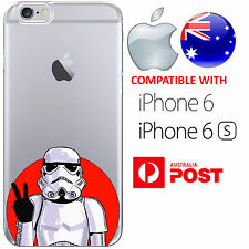iPhone 6 6S Case Cover Silicone Star Wars Stormtrooper Funny Peaceout buckethead