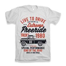 Camicia da uomo Hotrod 58 T American Racing GARAGE CLASSICO VINTAGE V8 RACE CAR 27