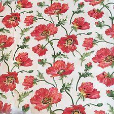 Motif Vintage Wallpaper Floral Red Pink Flowers Vines LAST 4!