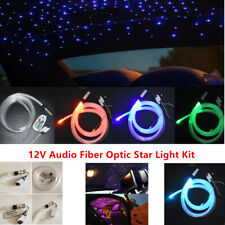 12V DIY Audio Fiber Optic Star Light Set For Car Headliner Roof Ceiling Lights