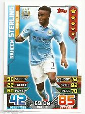 2015 / 2016 EPL Match Attax Base Card (159) Raheem STERLING Manchester City