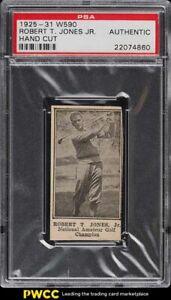 1925 W590 Strip Card Bobby Jones Jr. ROOKIE RC PSA AUTH