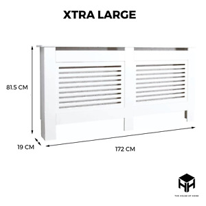 XTRA LARGE Radiator Cover White Modern Traditional Wood Horizontal Vertical