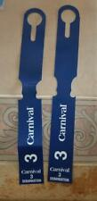 2 Carnival Cruise Line Zone 3 Debarkation Luggage Tags New