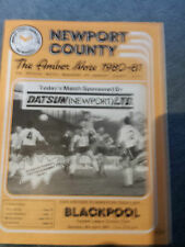 Newport County v Blackpool, 1980-81