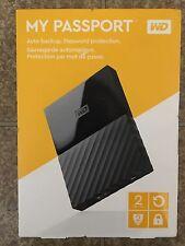 Western Digital My Passport  2TB USB 3.0 Portable External Hard Drive Black