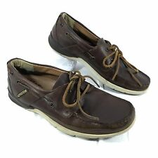 Men's Mephisto Boat Shoes loafers Brown leather Sz 8 GUC