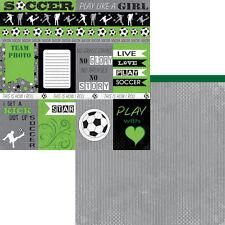 Moxxie - Soccer Scrapbooking Paper CUTOUTS - SST-1583