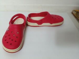 Crocs Men's Red Slingback Outdoor  Clogs Size 11M