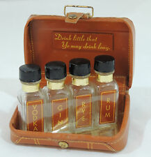 Vintage Mini Liquor Travel Suitcase with Four 1/2 oz Bottles Canada