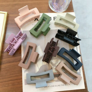 Hair Accessories Hair Claw Rectangle Acrylic Resin Large Hair Clip Candy Color