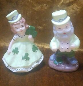 Ceramic ST.PATRICK'S DAY IRISH Couple Figures