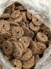 CORK RINGS 12 DARK SPOTTED 1 1/4 X 1/4 X 1/4 BORE