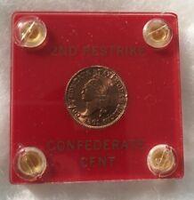 1861 Confederate Cent Restrike - Circulated