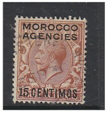 Morocco Agencies - 1925/31, 15c on 1 1/2d (Block Cypher) - G/U - SG 145 (b)