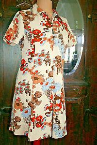 Gr. 48 - True Vintage 70er – Kleid – Sommerkleid - Silastik - pflegeleicht