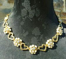 TARATATA - COLLIER signé - doré / perles / strass - NECKLACE SIGNED - Vintage