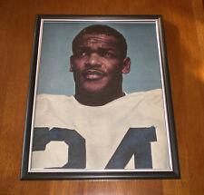 1961 Colts Lenny Moore Framed Color Close Up Print
