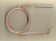 """FAST HEAT Cartridge Heater 2 1/2"""" L x 3/8"""" Dia. 500W 240V 42"""" Leads & Type J T/C"""