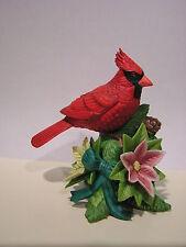 LENOX 2008 Annual CHRISTMAS CARDINAL Bird NEW in BOX with COA Pointsettia Flower