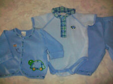 Baby Boys Size 0-3 Months Little Wonders 100% Cotton Blue Outfit