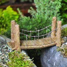 Suspension Bridge for your Miniature Fairy Garden Gnome Hobbit GO 16581