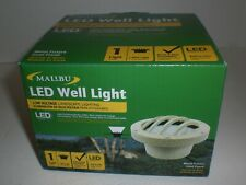MALIBU LED WELL LIGHT LOW VOLTAGE LANDSCAPE LIGHTING  SAND FINISHED