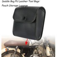 Motorradtasche Schwarz PU Satteltasche Gepäcktaschen Werkzeugtasche Für Harley