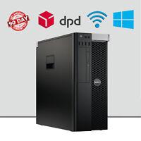 Dell Precision T3600 Workstation Business Tower Desktop PC CAD/CAM Quad Core