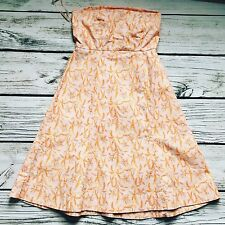 GAP Pink Floral Print Strapless A-Line Sundress Size 1 Built In Bra So Cute