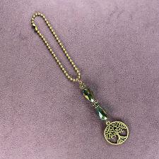 TREE OF LIFE CAR CHARM Suncatcher Rearview Mirror Dangler Amulet Oak Ash Spirit