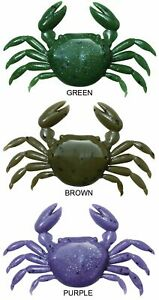 Ecogear Marukyu Crab Large 20mm 8 Pack Soft Plastics Lure Bream Brown Green /...