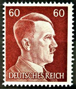 WW2 REAL NAZI 3rd REICH ERA GERMAN STAMP ADOLF HITLER REICHSKANZLER 60rf MNH