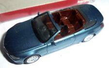 car 1/87 HERPA 033244 BMW 6er SERIES CABRIO (E64) 2004 MET BLUE NEW BOX