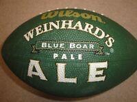 Wilson Weinhard's Blue Boar Pale Ale Beer Logo Green Football