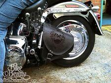 Top Leather Swingarm Skull Solo Pannier Saddle Bag Harley Davidson Softail