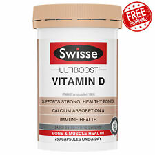 Swisse Ultiboost Nutrients Calcium + Vitamin D 250 Tablets Muscle Health