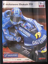 Program Gauloises Dutch TT Assen 26-28 juni 2003 (TTC)