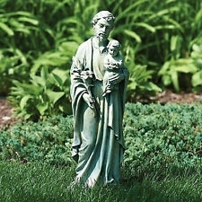 "20"" St Joseph Holding Baby Jesus Outdoor Garden Statue Joseph's Studio # 45685"